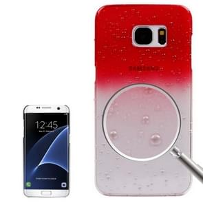 For Samsung Galaxy S7 Edge / G935 Artistic Water-drop Pattern PC Protective Cover Case (Red)