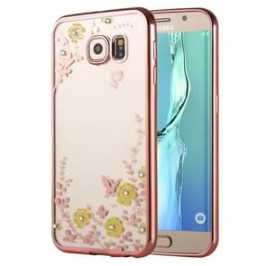 For Samsung Galaxy S6 Edge+ / G928 Flowers Patterns Electroplating Soft TPU Protective Cover Case