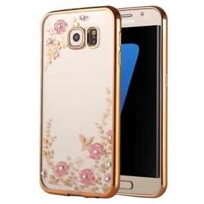 For Samsung Galaxy S7 Edge / G935 Flowers Patterns Electroplating Soft TPU Protective Cover Case