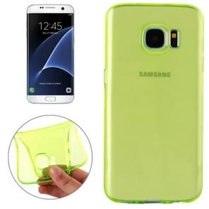 For Samsung Galaxy S7 Edge / G935 Transparent TPU Protective Case(Green)