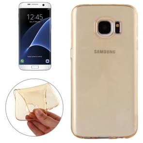 For Samsung Galaxy S7 Edge / G935 Transparent TPU Protective Case(Gold)