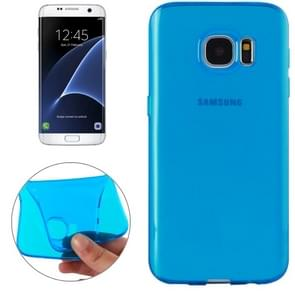For Samsung Galaxy S7 Edge / G935 Transparent TPU Protective Case(Blue)