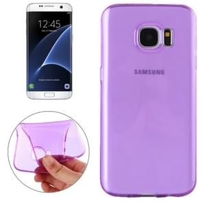 For Samsung Galaxy S7 Edge / G935 Transparent TPU Protective Case(Purple)