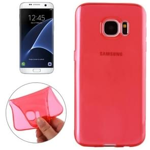 For Samsung Galaxy S7 Edge / G935 Transparent TPU Protective Case(Red)