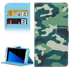 For Samsung Galaxy S7 Edge / G935 Camouflage Pattern Horizontal Flip Leather Case with Holder & Card Slots & Wallet