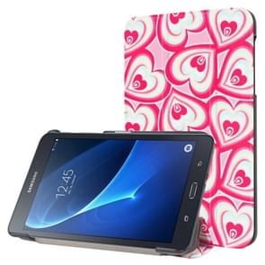 Rose Love Pattern Horizontal Flip Leather Case with Three-folding Holder for Samsung Galaxy Tab A 7.0 2016 / T280N