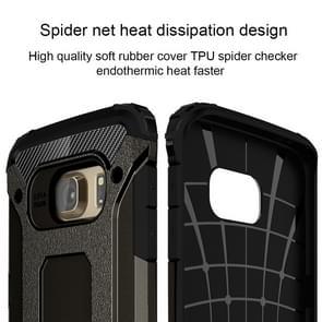 For Galaxy S6 Edge / G925 Tough Armor TPU + PC Combination Case (Black)