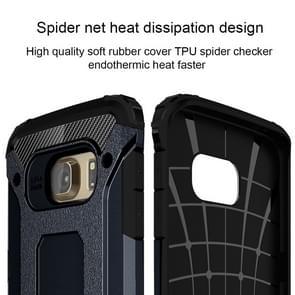For Galaxy S6 Edge / G925 Tough Armor TPU + PC Combination Case (Dark Blue)