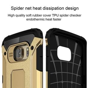 For Samsung Galaxy S6 Edge / G925 Tough Armor TPU + PC Combination Case (Gold)