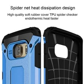 For Samsung Galaxy S6 Edge / G925 Tough Armor TPU + PC Combination Case (Blue)