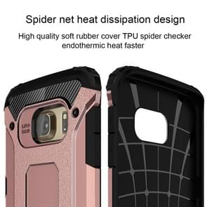 For Samsung Galaxy S6 Edge / G925 Tough Armor TPU + PC Combination Case (Rose Gold)