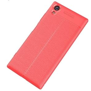 For Sony Xperia XA1 Plus Litchi Texture Soft TPU Protective Case(Red)