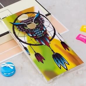 Voor Sony Xperia L2 Noctilucent Windbell Uil patroon TPU Soft Back hoesje beschermings Cover