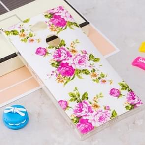 Voor Sony Xperia L2 Noctilucent Rose Bloemen patroon TPU Soft Back hoesje beschermings Cover