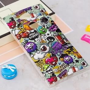 Voor Sony Xperia L2 Noctilucent Kleurs Rubbish patroon TPU Soft Back hoesje beschermings Cover