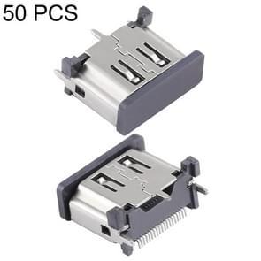 50 PCS Nickel Plating 19 Pin Female HDMI Connector Socket