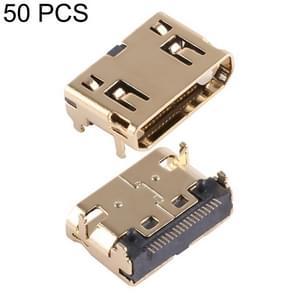50 PCS 90 Degrees 19 Pin Gold Plating Mini HDMI Female Connector Socket