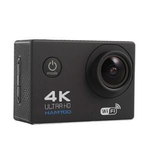 HAMTOD H9A HD 4K WiFi Sport Camera with Waterproof Case, Generalplus 4247, 2.0 inch LCD Screen, 120 Degree Wide Angle Lens (Black)