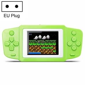 CoolBaby RS-33 268 in 1 Classic Games Handheld Game Console with 2.5 inch Color Screen, EU Plug(Green)
