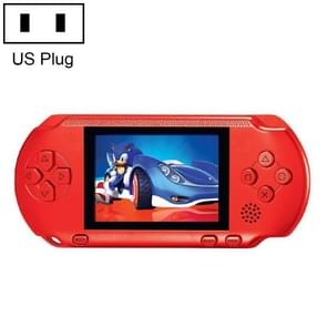 16 Bits Retro Portable Game Console with 2 Game Cards, Built-in 80 Games, US Plug(Red)