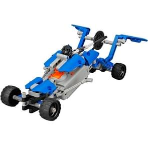 190 PCS / Sets 10 in 1 2-channel DIY Building Bricks Blok Car High Speed Remote Control Off Road Educational Intelligence Toy, Remote Control Distance: 80-100m (blauw)