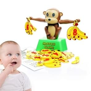 Monkey Banana Match Game Balance Scale Educational Toy for Children