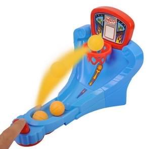 Desktop Crazy-shoot Hoop Mini Basketball Game Toy, Random Color Delivery
