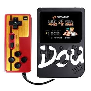 CoolBaby Dou Game Box 300 in 1 Classic Games Retro Handheld Game Console with 3.0 inch HD Screen, Support AV Output and Double Against(Black)