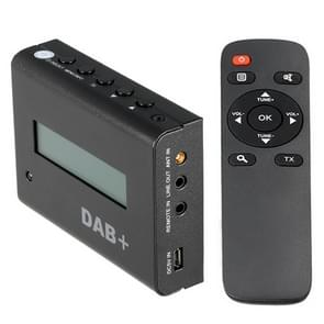 BLH-616 Car Digital DAB / DAB+ Receiver LCD Display FM Tuner Box met Remote Control(zwart)