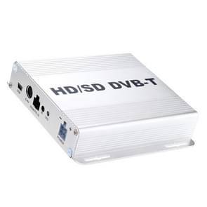 DVB-T999 Car Mobile DVB-T Digital TV Receiver Box met Remote Control (zilver)