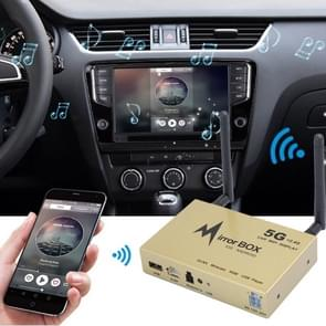 WIFI-846 Car Mobile 5GHz & 2.4GHz Dual Antennas WiFi Display Screen Mirror Link Push Box with Remote Control(Gold)