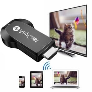AnyCast M100 2.4G Dual Core H.265 4K HDMI DLNA Airplay WiFi Wireless Display Receiver Dongle for Windows, Android, iOS, Mac OS(Black)