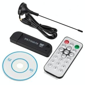 RTL2832U + FC0012 Mini DVB-T + DAB + FM USB Digital TV Dongle / Receiver Stick with Remote Control (Black)