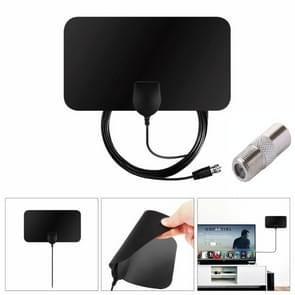 TY13 50 Miles Range 10dBi High Gain Amplified Digital Flat HDTV Indoor TV Antenna with 3.7m Coaxial Cable