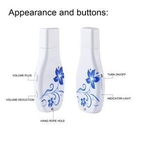 Simple Blue and White Porcelain Pattern Portable Audio Voice Recorder USB Drive, 8GB, Support Music Playback