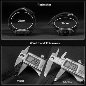 SANDA 5297 LED Night Light Display & Stopwatch & Alarm & Date and Week Function Men Quartz + Digital Dual Movement Watch with Plastic Band(White)