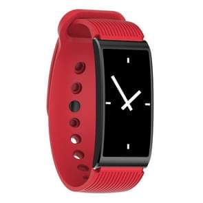 X3 0.96 inch Screen Display Silicone Watch Band Bluetooth Smart Bracelet, IP68 Waterproof, Support Pedometer / Heart Rate Monitor / Sleep Monitor / Blood Pressure Monitor, Compatible with Android and iOS Phones(Red)