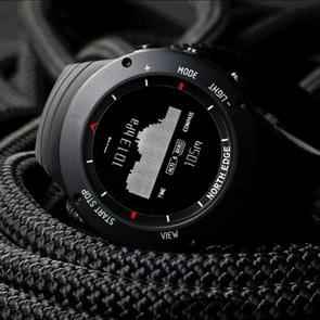 ALTAY North Edge Men Fashion Professional Outdoor Sport Waterproof Climbing Hiking Smart Digital Watch, Support Low Power Alarm & Compass(Black)