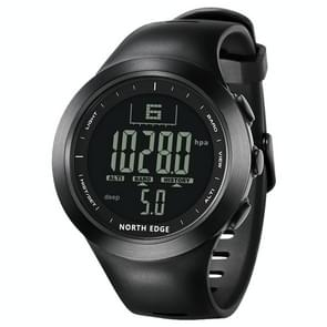 Peak North Edge Men Fashion Professional Round Outdoor Sport Waterproof Climbing Hiking Smart Digital Watch, Support Thermometer & Weather Forecast(Black)