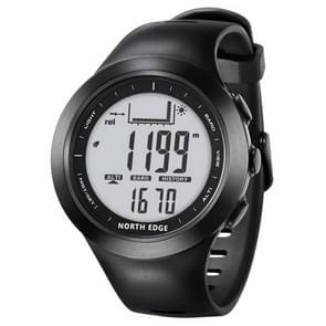 Peak North Edge Men Fashion Professional Round Outdoor Sport Waterproof Climbing Hiking Smart Digital Watch, Support Thermometer & Weather Forecast(Grey)