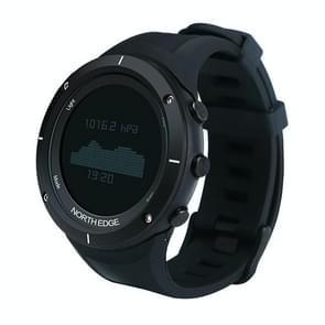 Range 1 North Edge Men Fashion Professional Rubber Watchbands Outdoor Sport Waterproof Smart Digital Watch, Support Barometer & Heart Rate Monitor(Black)