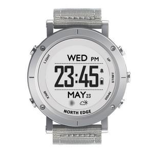 Range 1 North Edge Men Fashion Professional Woven Watchbands Outdoor Sport Waterproof Smart Digital Watch, Support Barometer & Heart Rate Monitor(Silver)