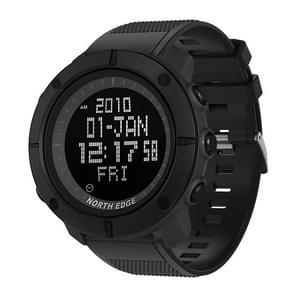 TANK North Edge Men Fashion Professional Military Army Outdoor Sport Waterproof Running Swimming Smart Digital Watch(Black)