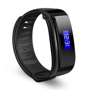 FX-3 0.91 inch Screen Display Bluetooth Headset + Smart Bracelet, Life Waterproof, Support Pedometer / Calories Burned / Anti-lost  / Call Reminder, Compatible with Android and iOS Phones(Black)