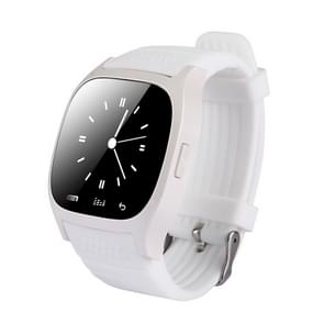 M26 Smart Watch with Pedometer & Sleeping Monitor & Calculator & Call Reminder & SMS / Wechat Alerts & Clock Display & Synchronous Music Play Call Answer & Stopwatch & Alarm & Remote Camera Function(White)