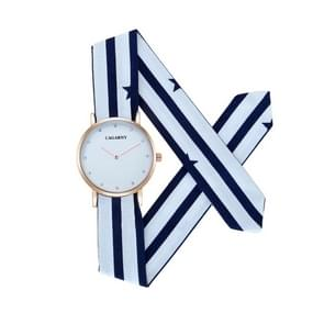 CAGARNY 6813 Simple Type Round Dial Alloy Gold Case Fashion Women Watch Quartz Watches with Cloth Band