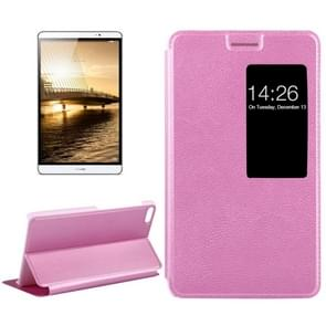 Huawei MediaPad M2 Youth Version 7.0 Litchi Texture Horizontal Flip Leather Case with Holder & Smart Window(Purple)