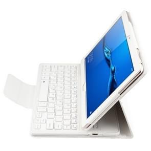 SA104 Huawei M3 Tablet 10.1 inch ABS Litchi structuur blauwtooth toetsenbord beschermings hoesje met houderwit