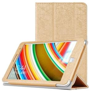 CHUWI Hi8 Tablet (S-WMC-0457) Steel Wire Texture Horizontal Flip Solid Color Leather Case with Three-folding Holder(Gold)
