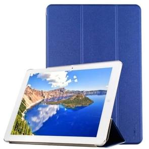 CHUWI Hi12 Tablet Frosted Texture Horizontal Flip Solid Color Leather Case with Three-folding Holder(Dark Blue)